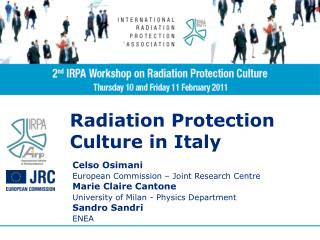 Radiation Protection  Culture in Italy