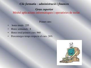 Mòdul aplicacions informàtiques i operatòries de teclat