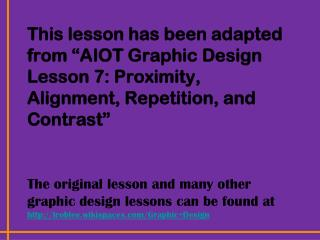 The Principles of Graphic Design