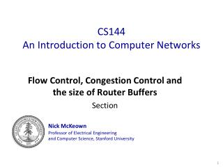 CS144 An Introduction to Computer Networks