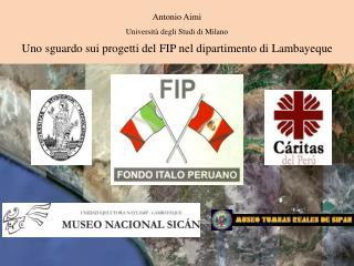 Antonio Aimi Università degli Studi di Milano