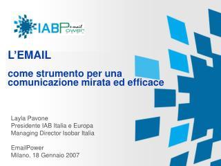 L'EMAIL come strumento per una comunicazione mirata ed efficace