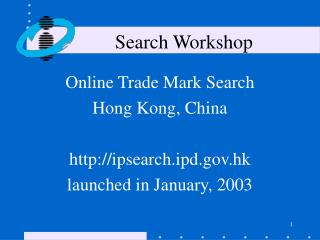 Search Workshop