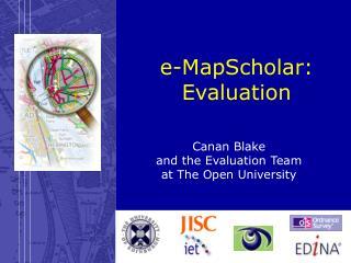 e-MapScholar:  Evaluation