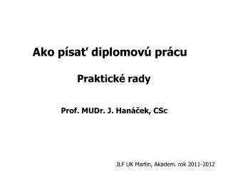Ako písať diplomovú prácu Praktické rady