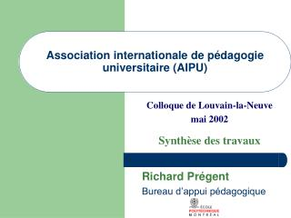 Association internationale de p�dagogie universitaire (AIPU)