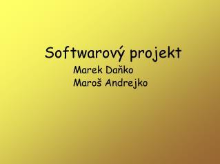 Softwarov� projekt