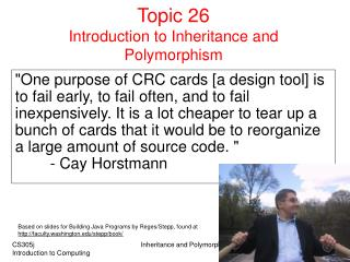 Topic 26  Introduction to Inheritance and Polymorphism