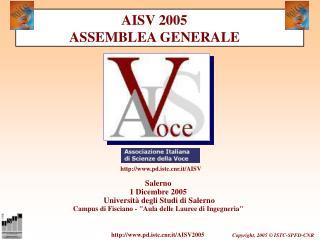 Salerno 1 Dicembre 2005  Università degli Studi di Salerno