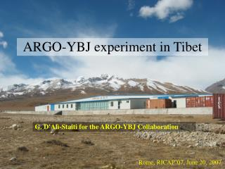 ARGO-YBJ experiment in Tibet