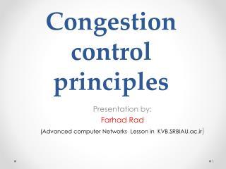 Congestion control principles