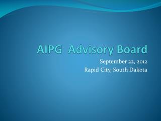 AIPG  Advisory Board