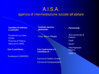 A.I.S.A. agenzia di intermediazione sociale all'abitare