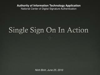 Single Sign On In Action