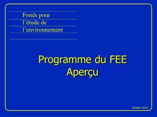 Fonds pour l'étude de l'environnement