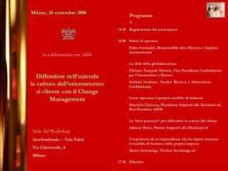 Milano, 26 settembre 2006