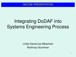 Integrating DoDAF into Systems Engineering Process