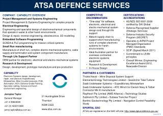 ATSA DEFENCE SERVICES