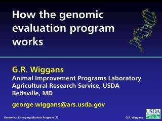 How the genomic evaluation program works