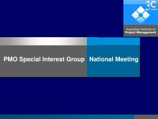 PMO Special Interest Group