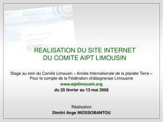 REALISATION DU SITE INTERNET DU COMITE AIPT LIMOUSIN