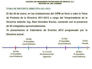 TOMA DE PROTESTA DIRECTIVA 2011-2013