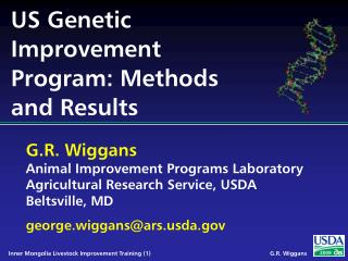 US Genetic Improvement Program: Methods and Results