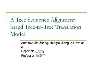 A Tree Sequence Alignment-based Tree-to-Tree Translation Model