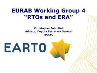 EURAB Working Group 4 �RTOs and ERA�
