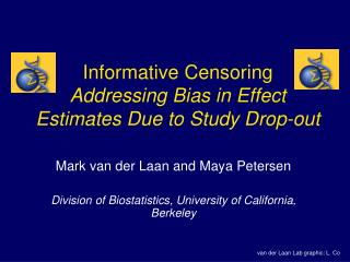 Informative Censoring Addressing Bias in Effect Estimates Due to Study Drop-out