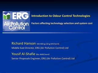 Introduction to Odour Control Technologies