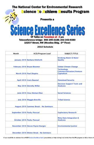 Science Excellence Series