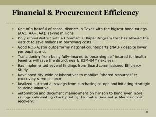Financial & Procurement Efficiency