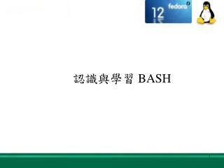 認識與學習  BASH