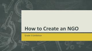 How to Create an NGO