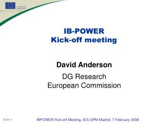 IB-POWER Kick-off meeting