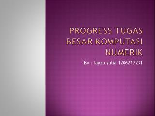 Progress  Tugas Besar Komputasi Numerik