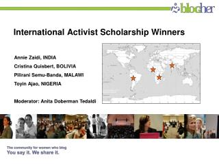 International Activist Scholarship Winners