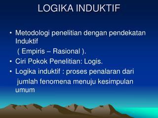 LOGIKA INDUKTIF