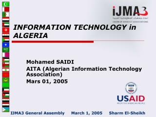 INFORMATION TECHNOLOGY in ALGERIA