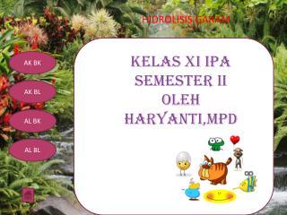 KELAS XI IPA SEMESTER II OLEH  HARYANTI,MPd