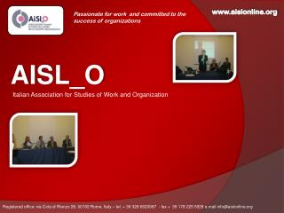 AISL_O Italian Association for Studies of Work and Organization