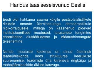 Haridus taasiseseisvunud Eestis