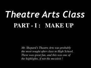 Theatre Arts Class