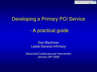 Developing a Primary PCI Service   - A practical guide