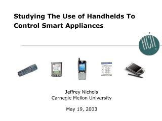 Studying The Use of Handhelds To Control Smart Appliances