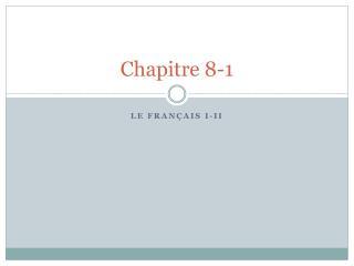 Chapitre  8-1
