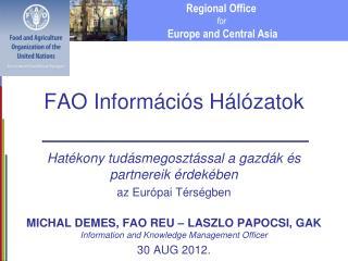 FAO Információs Hálózatok