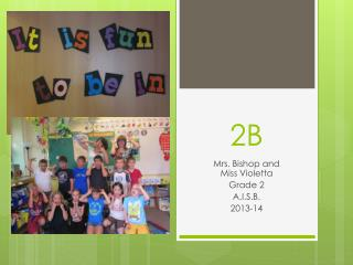 Mrs. Bishop and  Miss  Violetta Grade 2 A.I.S.B . 2013-14