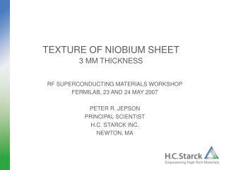 TEXTURE OF NIOBIUM SHEET 3 MM THICKNESS